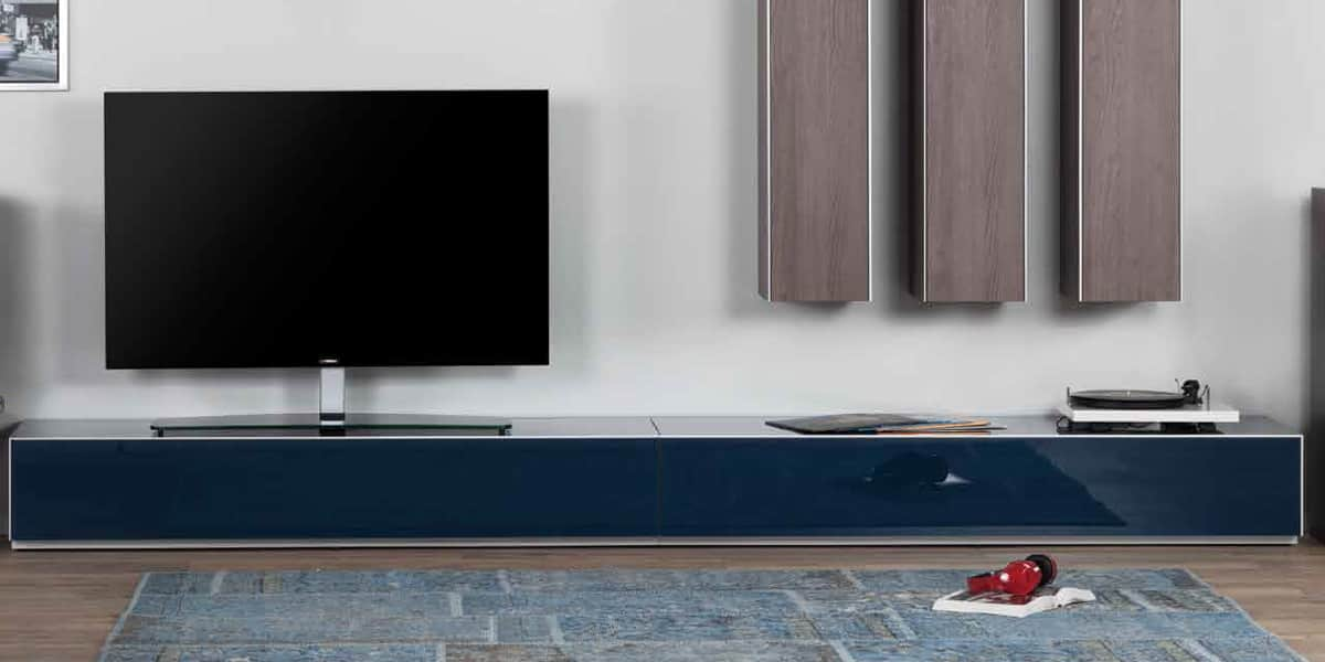 de conti meglio 18 bleu meubles tv de conti sur easylounge. Black Bedroom Furniture Sets. Home Design Ideas
