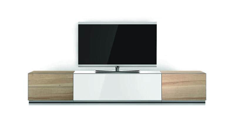 Sonorous elements blanc et ch ne meubles tv sonorous sur - Meuble tv infrarouge ...