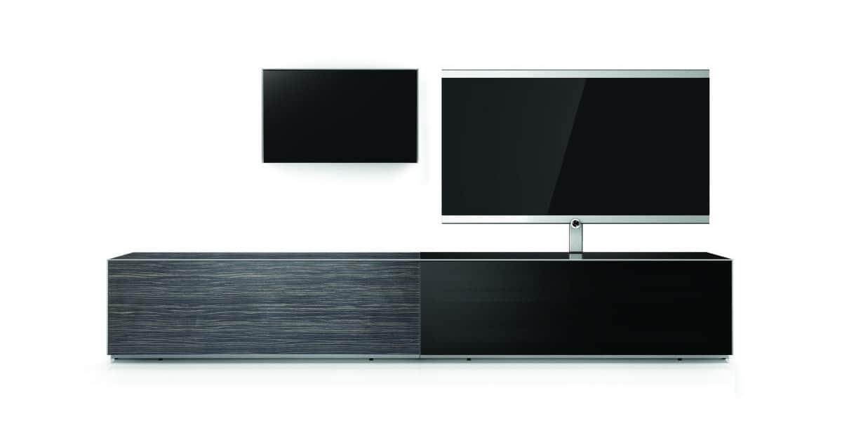 Sonorous elements amazon et noir meubles tv sonorous sur for Element meuble tv