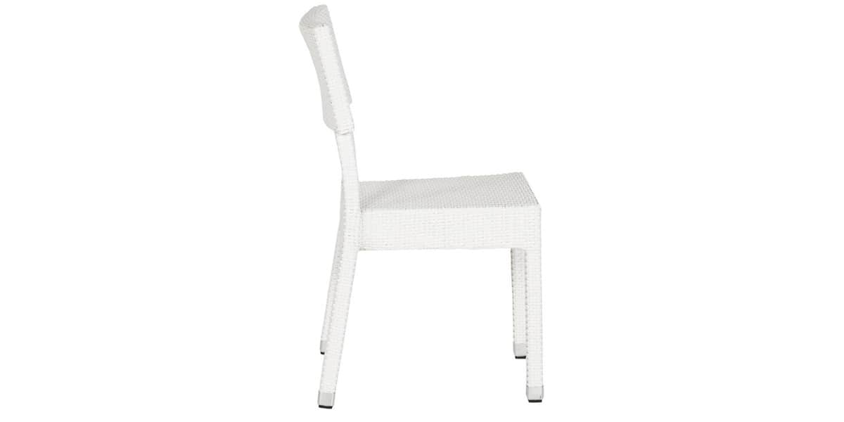 Coti design arnal blanc toutes les chaises sur easylounge - Chaise en osier blanc ...