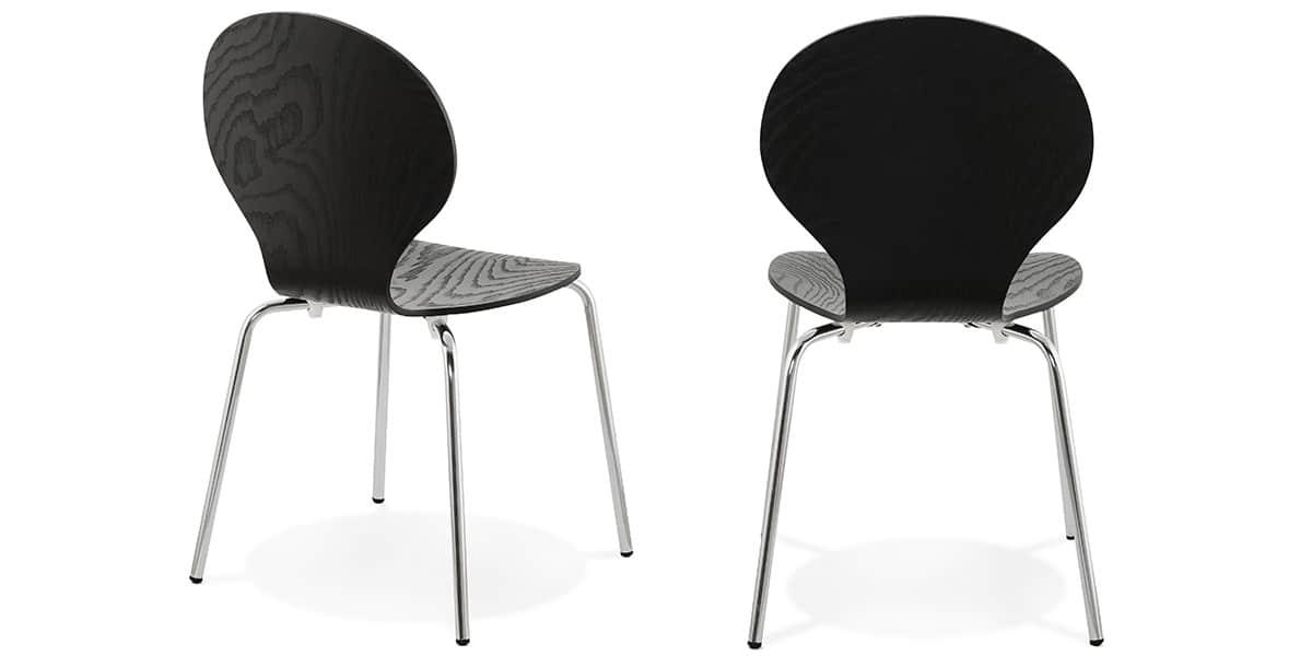 Coti design perry noir toutes les chaises sur easylounge for Toutes les chaises