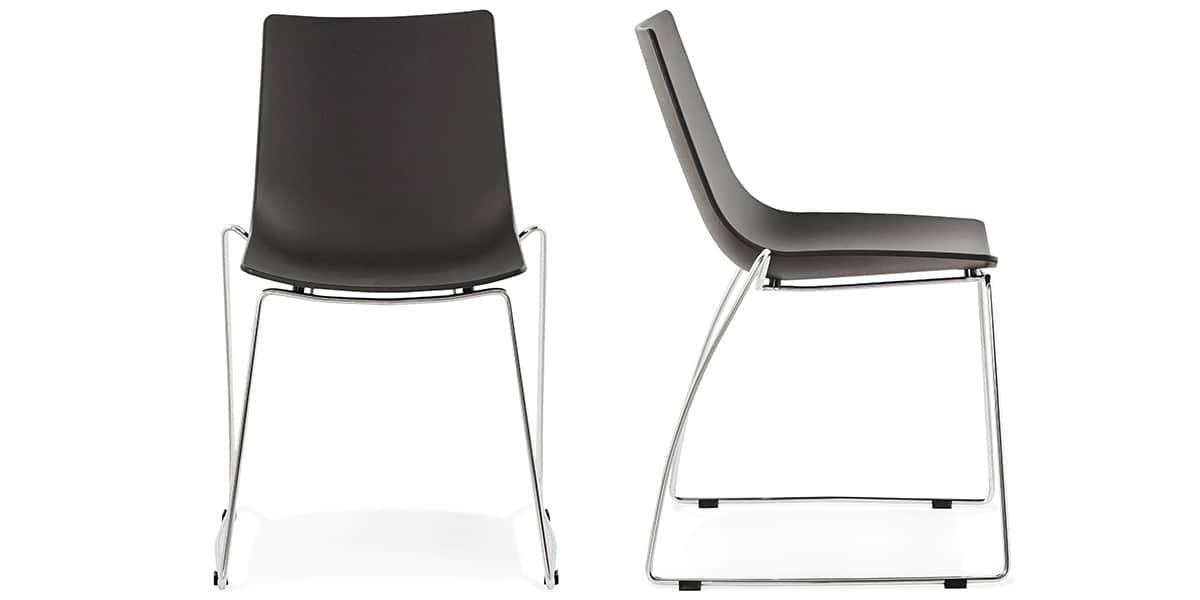 Coti design tikada noir toutes les chaises sur easylounge for Toutes les chaises