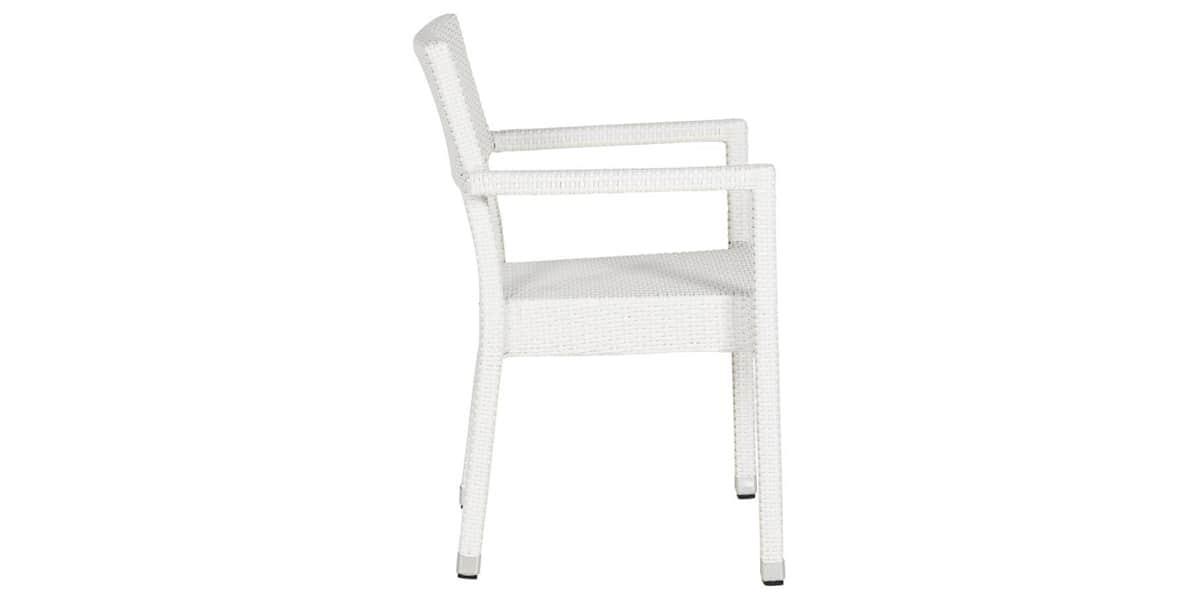 Coti design dagmar blanc toutes les chaises sur easylounge - Chaise en osier blanc ...