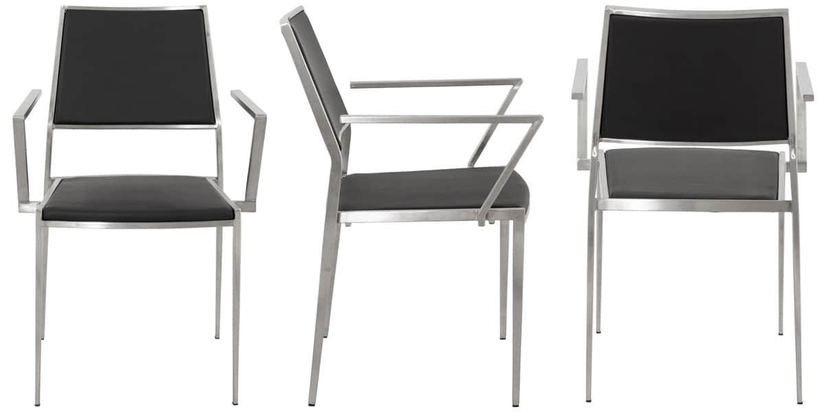 Coti design dakota noir toutes les chaises sur easylounge for Toutes les chaises