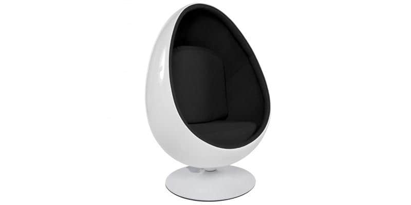 coti design egg blanc et noir tous les fauteuils sur easylounge. Black Bedroom Furniture Sets. Home Design Ideas