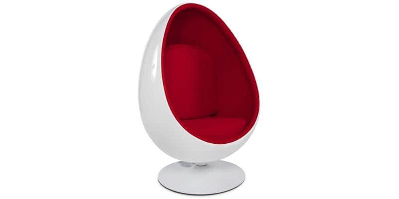 Coti Design Egg Rouge et Blanc