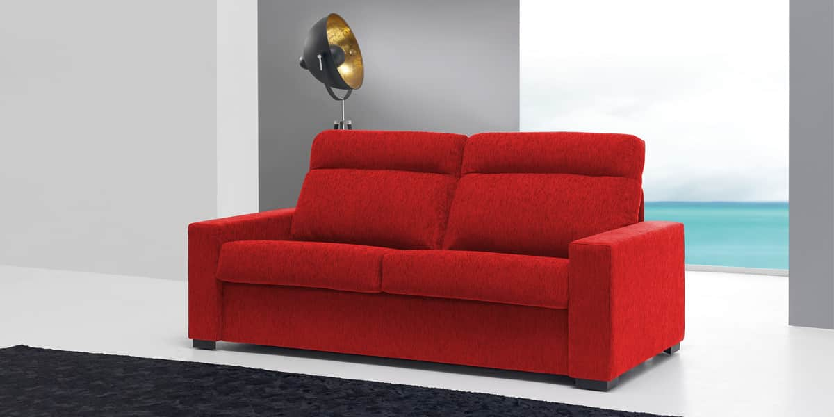Coti design ambar freedom rouge canap s convertibles sur for Canape qui s allonge