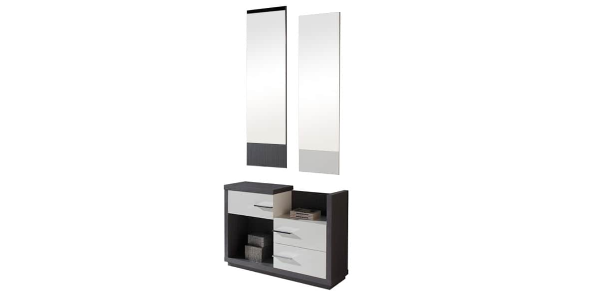 coti design arona gris et blanc meubles d 39 entr e sur easylounge. Black Bedroom Furniture Sets. Home Design Ideas