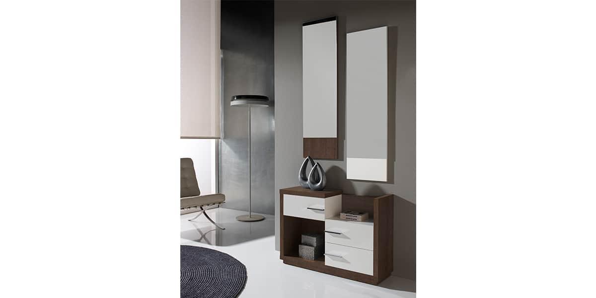 Coti Design Arona Marron Et Blanc Meubles D 39 Entr E Sur