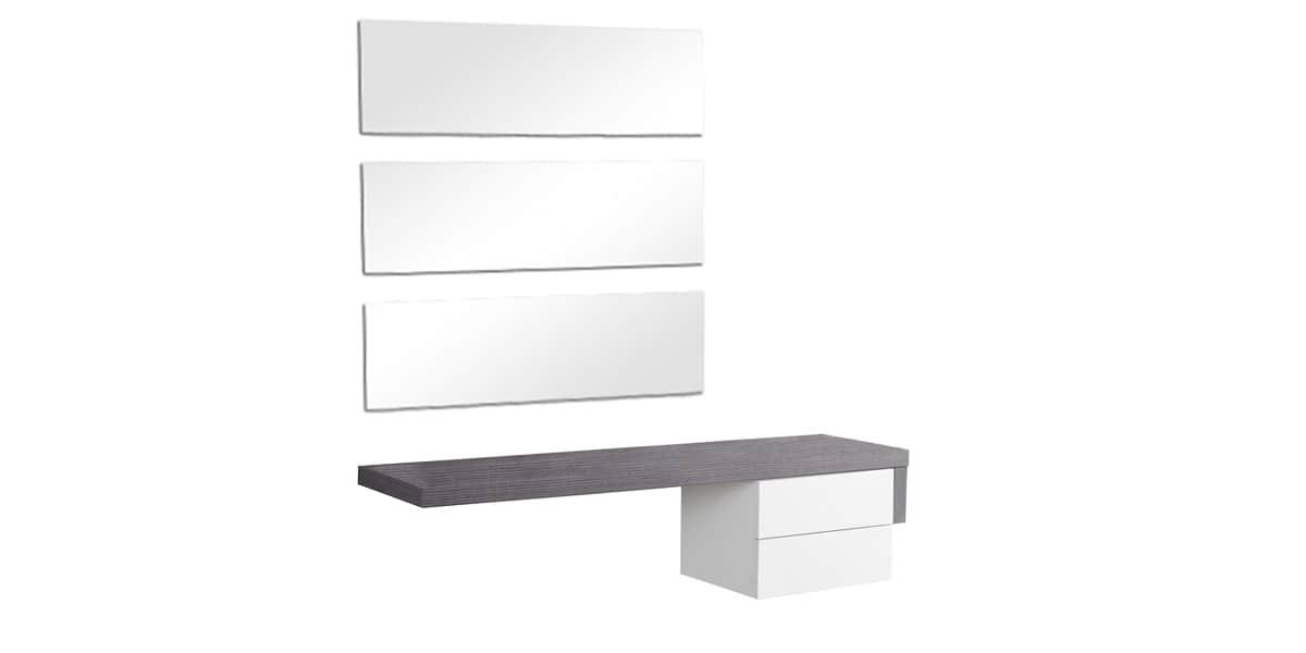 coti design cadix gris et blanc | meubles d'entrée sur easylounge - Meuble D Entree Design
