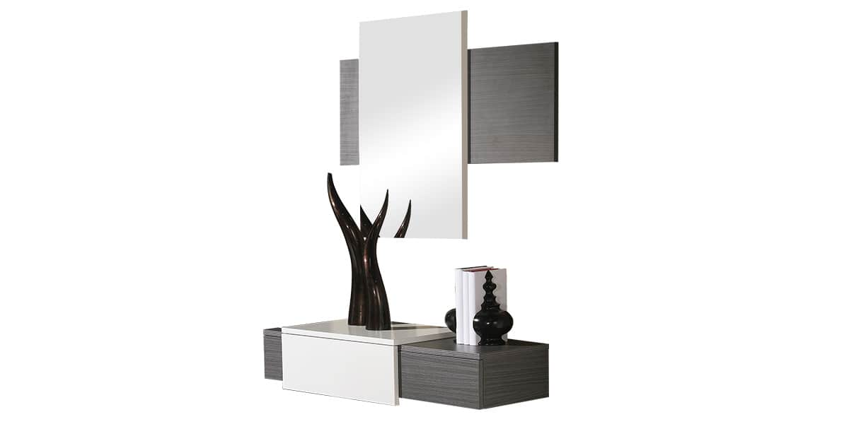 coti design l rida gris et blanc meubles d 39 entr e sur. Black Bedroom Furniture Sets. Home Design Ideas