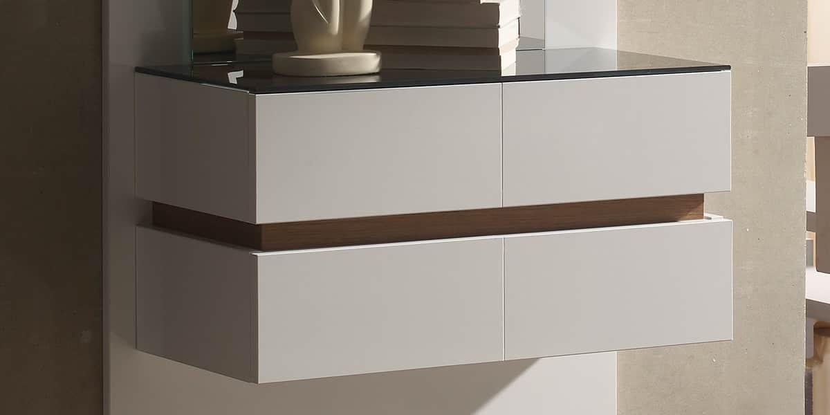 coti design valence blanc et noyer meubles d 39 entr e sur easylounge. Black Bedroom Furniture Sets. Home Design Ideas
