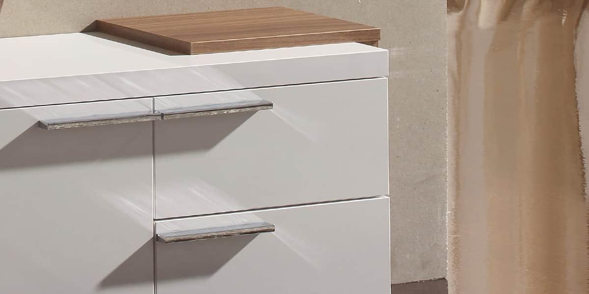 Coti design le n noyer et blanc meubles d 39 entr e sur for Deco meuble leon