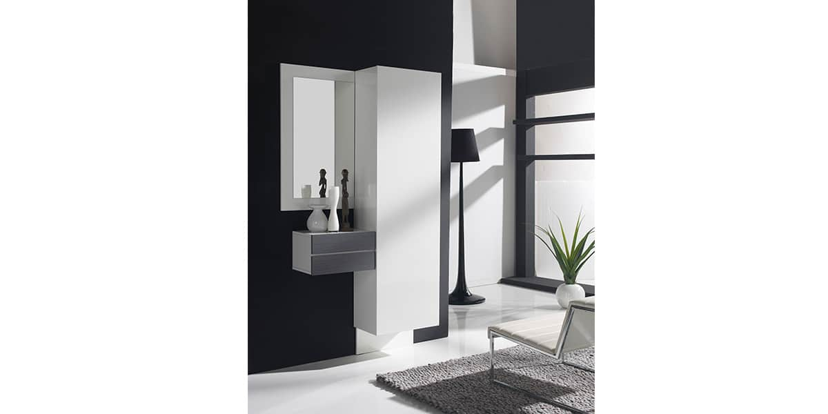 coti design utrera blanc et gris easylounge. Black Bedroom Furniture Sets. Home Design Ideas