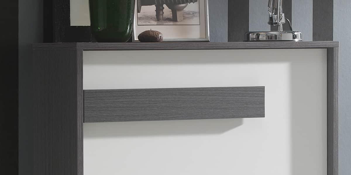 Coti design mataro gris et blanc meubles chaussures - Meuble a chaussures original ...