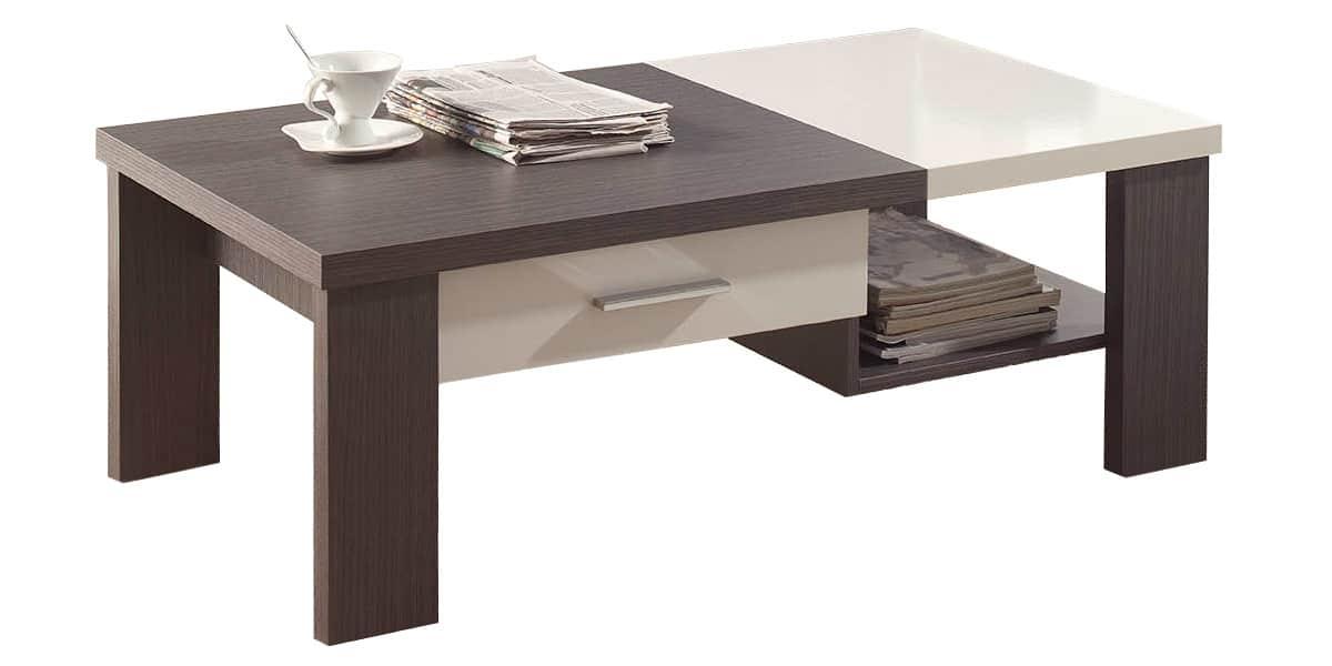 Coti design agena gris et blanc tables basses sur easylounge for Table basse gris et blanc