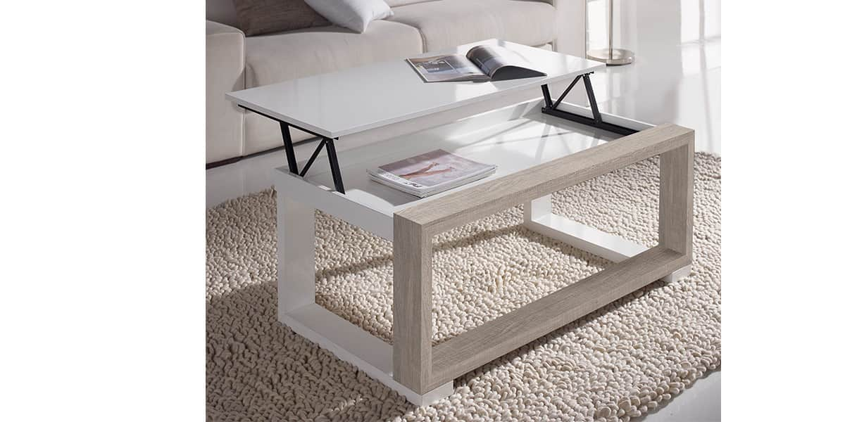 coti design auva l blanc et cr me tables basses sur easylounge. Black Bedroom Furniture Sets. Home Design Ideas