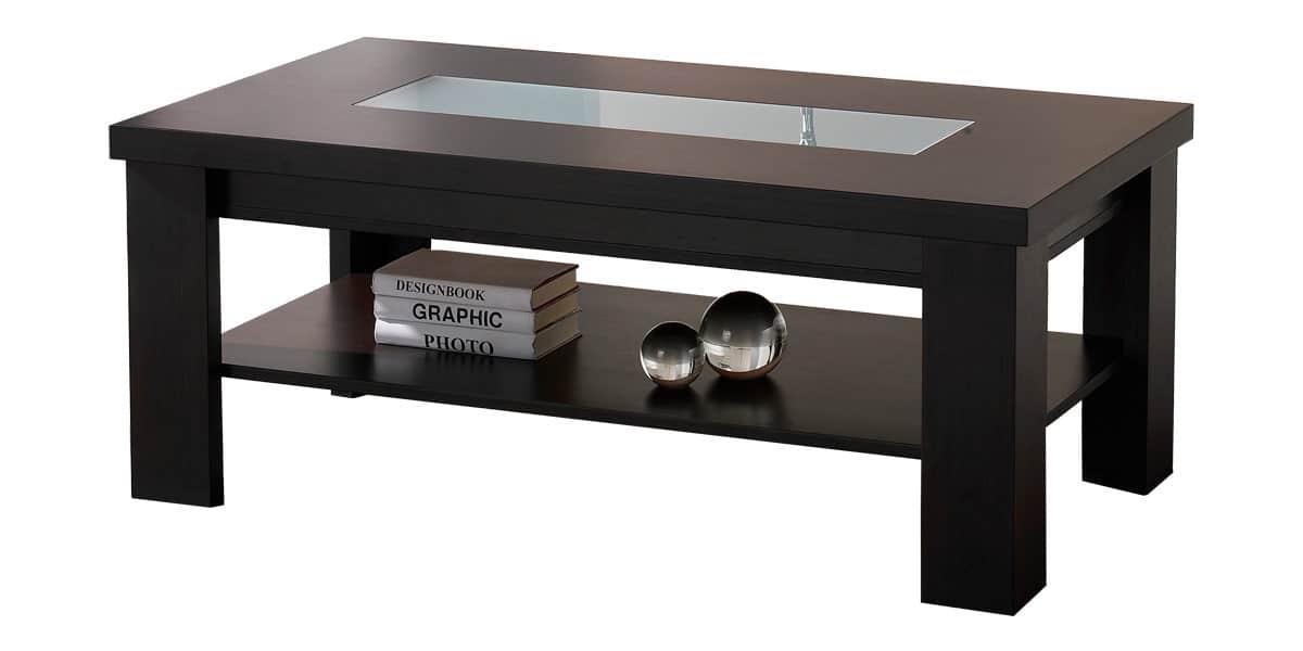 Coti design ancha l marron tables basses sur easylounge for Table basse marron