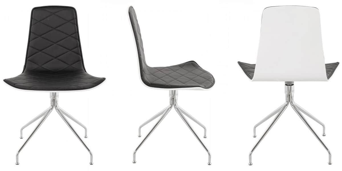 Coti design georgia noir et blanc toutes les chaises sur for Toutes les chaises