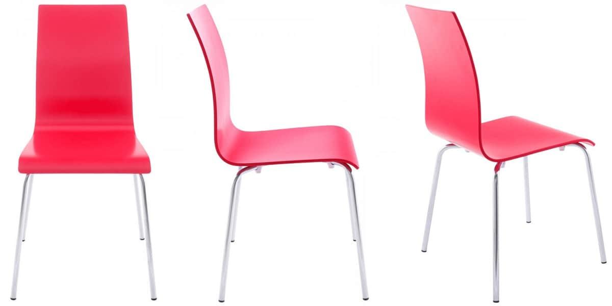 Coti design kansas rouge toutes les chaises sur easylounge for Toutes les chaises