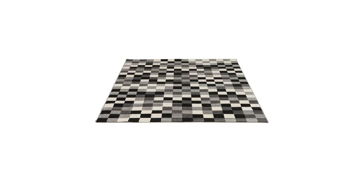 Coti design kube noir et blanc tapis de salon sur easylounge - Tapis de salon noir et blanc ...