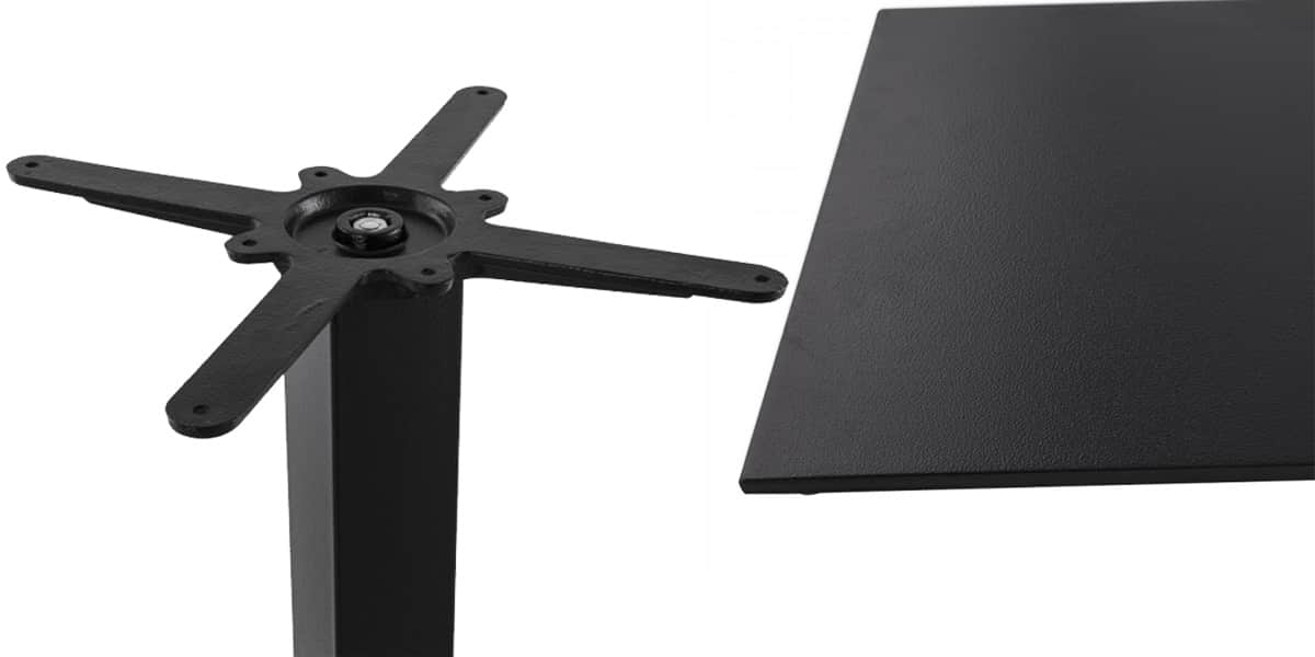 coti design taya 110 acier noir pieds de table sur easylounge. Black Bedroom Furniture Sets. Home Design Ideas