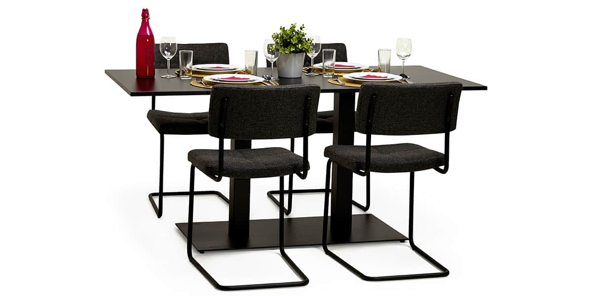 coti design malm noir pieds de table sur easylounge. Black Bedroom Furniture Sets. Home Design Ideas