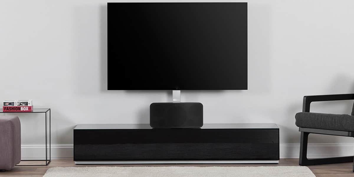 De conti trio 1 noir avec potence meubles tv de conti - Meuble tv infrarouge ...