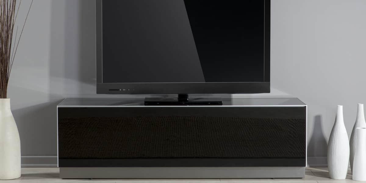 De conti meglio trio 2 noir meubles tv de conti sur - Meuble tv infrarouge ...