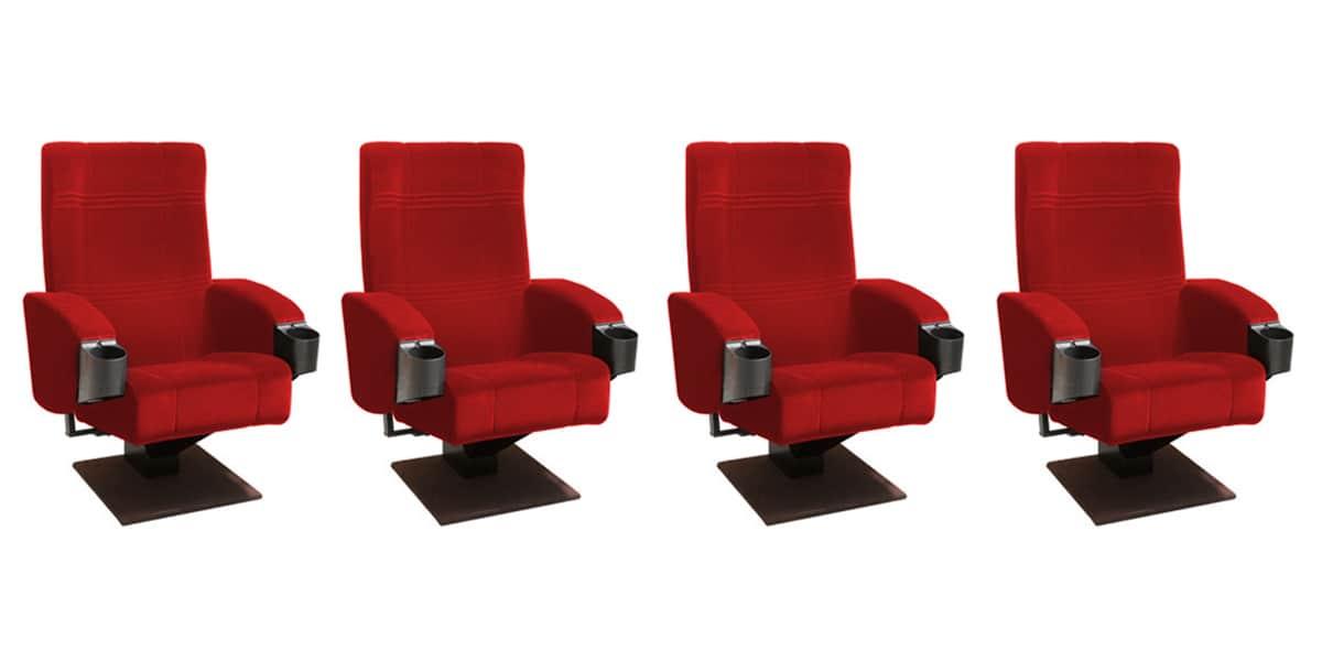 Delagrave 4f galaxy 3 rouge fauteuils de cin ma sur easylounge - Fauteuil rouge cinema ...