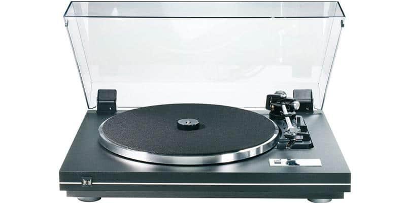 DUAL CS 455-1 EV Noir (plateau silver)