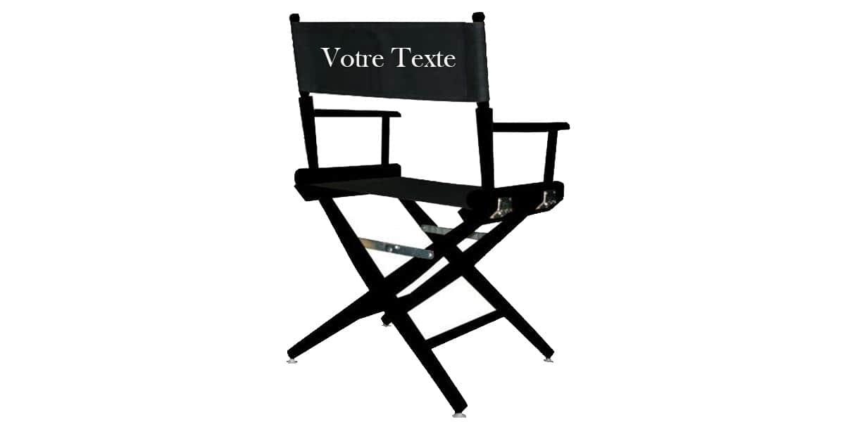 Easylounge fauteuil perso noir d coration cin ma sur for Chaise de realisateur