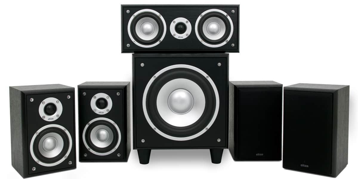 eltax concept 5 1 noir packs enceintes home cin ma sur. Black Bedroom Furniture Sets. Home Design Ideas