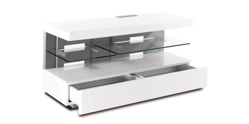 Erard ice club blanc meubles tv erard sur easylounge - Meuble tv chaine hifi ...
