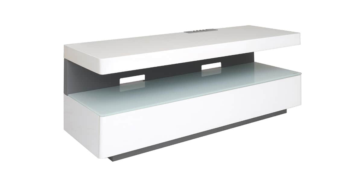 Erard Ice Box Blanc  Meubles TV Erard sur EasyLounge -> Meuble Tv Ice Box Laque Blanc