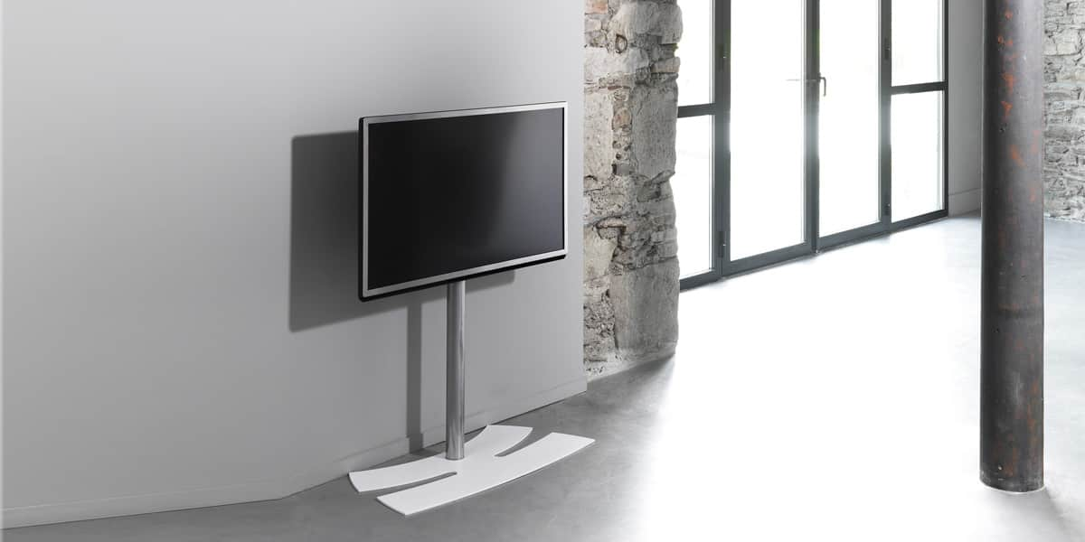 erard lux up 900 m blanc supports tv sur pied sur easylounge. Black Bedroom Furniture Sets. Home Design Ideas