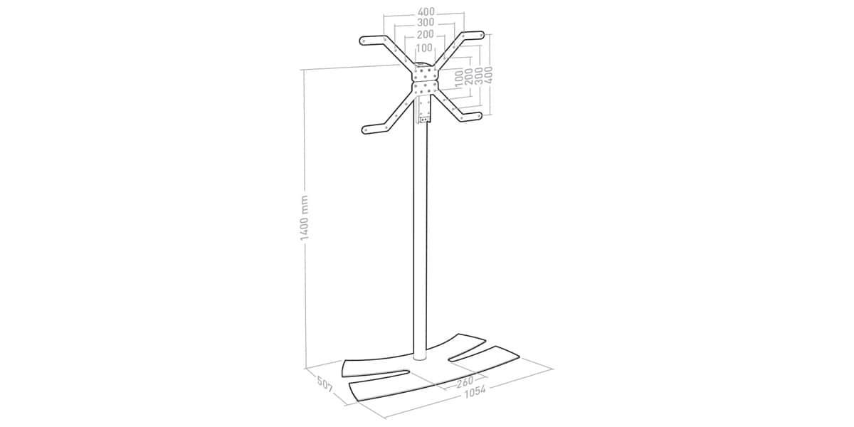 Erard lux up 1400 xl blanc supports tv sur pied sur for Erard archi colonne blanc