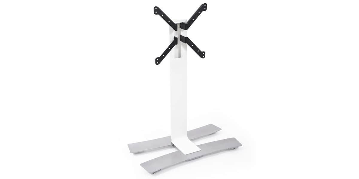 Erard will 1050 l blanc supports tv roulettes sur for Erard archi colonne blanc