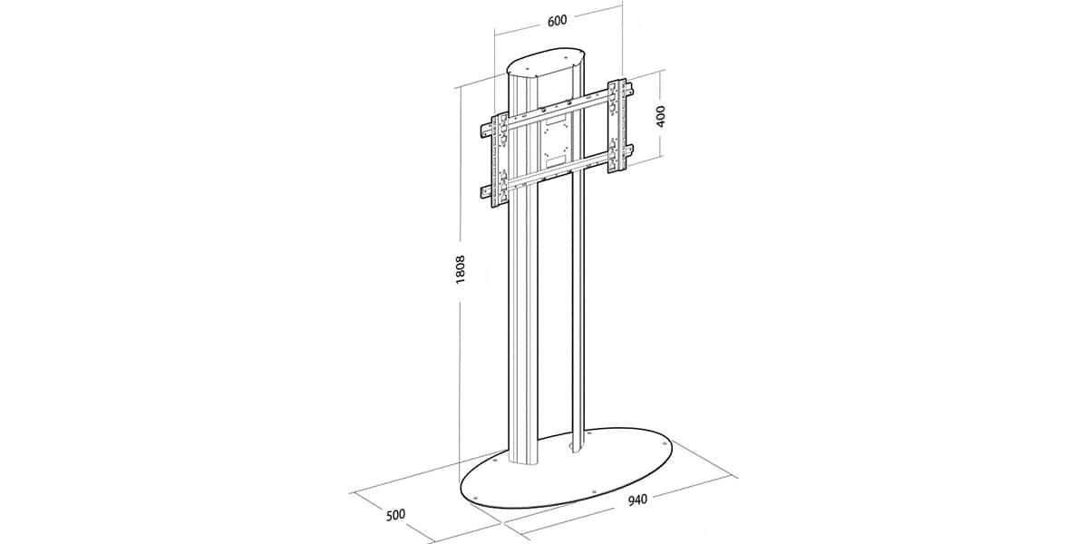 erard pro plasmatech 401822 supports tv roulettes sur. Black Bedroom Furniture Sets. Home Design Ideas