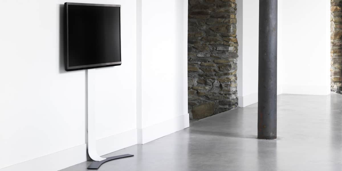 erard standit 400 blanc supports tv sur pied sur easylounge. Black Bedroom Furniture Sets. Home Design Ideas