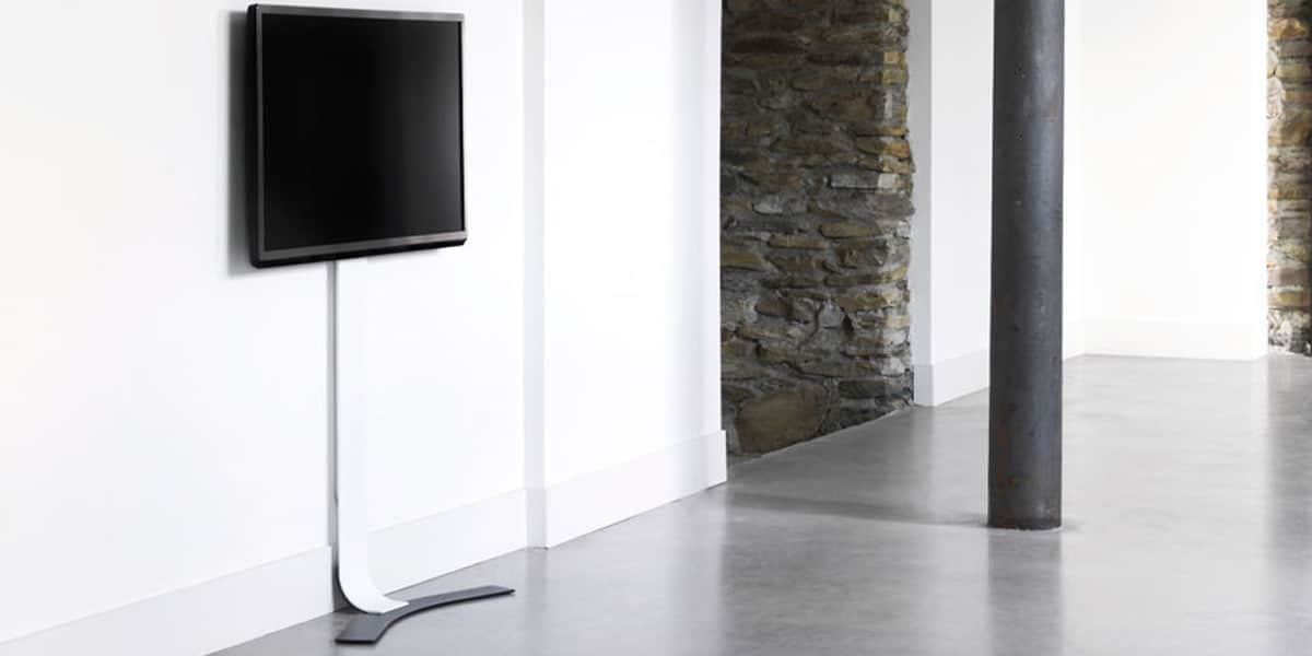 Erard standit 600 blanc supports tv sur pied sur easylounge - Support tv mural design ...