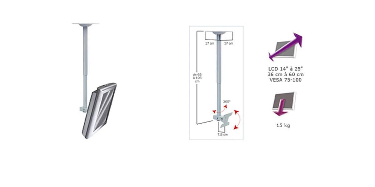 erard applik 2405 supports tv plafond sur easylounge. Black Bedroom Furniture Sets. Home Design Ideas