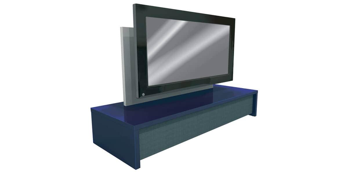 Erard george 2502 bleu meubles tv erard sur easylounge - Meuble tv infrarouge ...