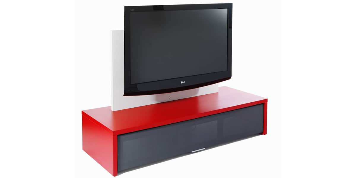 Erard george 2503 rouge meubles tv erard sur easylounge for Meuble support tv