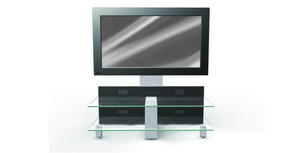erard kubik ii 2522 noir meubles tv erard sur easylounge. Black Bedroom Furniture Sets. Home Design Ideas
