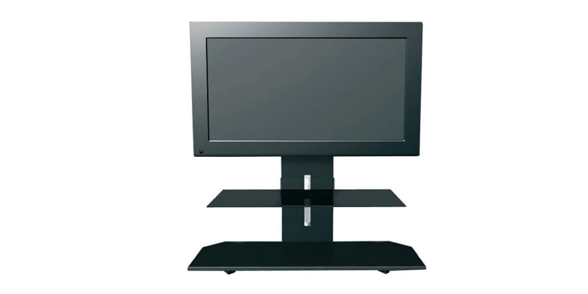 erard pratik ii 2527 noir meubles tv erard sur easylounge. Black Bedroom Furniture Sets. Home Design Ideas