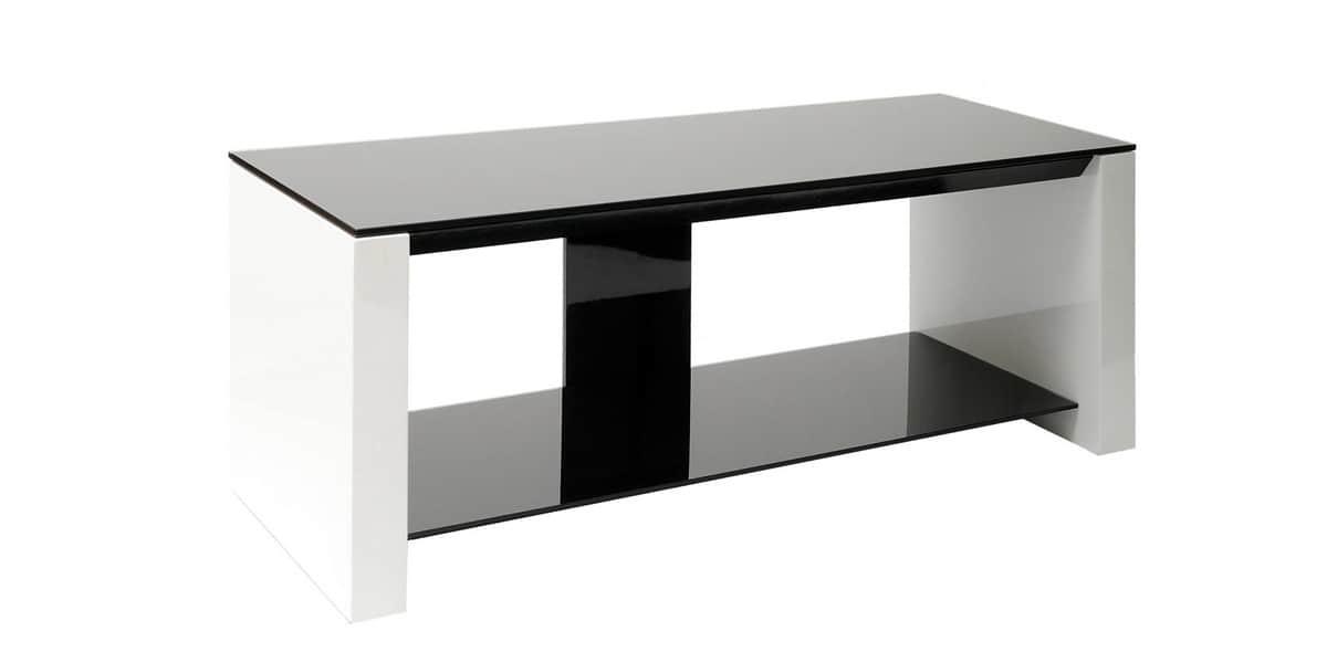 erard smart noir blanc meubles tv erard sur easylounge. Black Bedroom Furniture Sets. Home Design Ideas