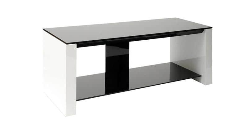 Erard smart noir blanc meubles tv erard sur easylounge for Erard archi colonne blanc