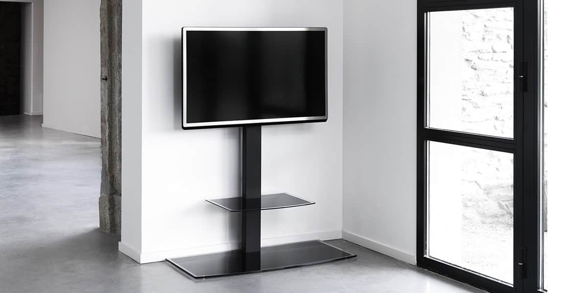 erard studio 1000 supports tv sur pied sur easylounge. Black Bedroom Furniture Sets. Home Design Ideas