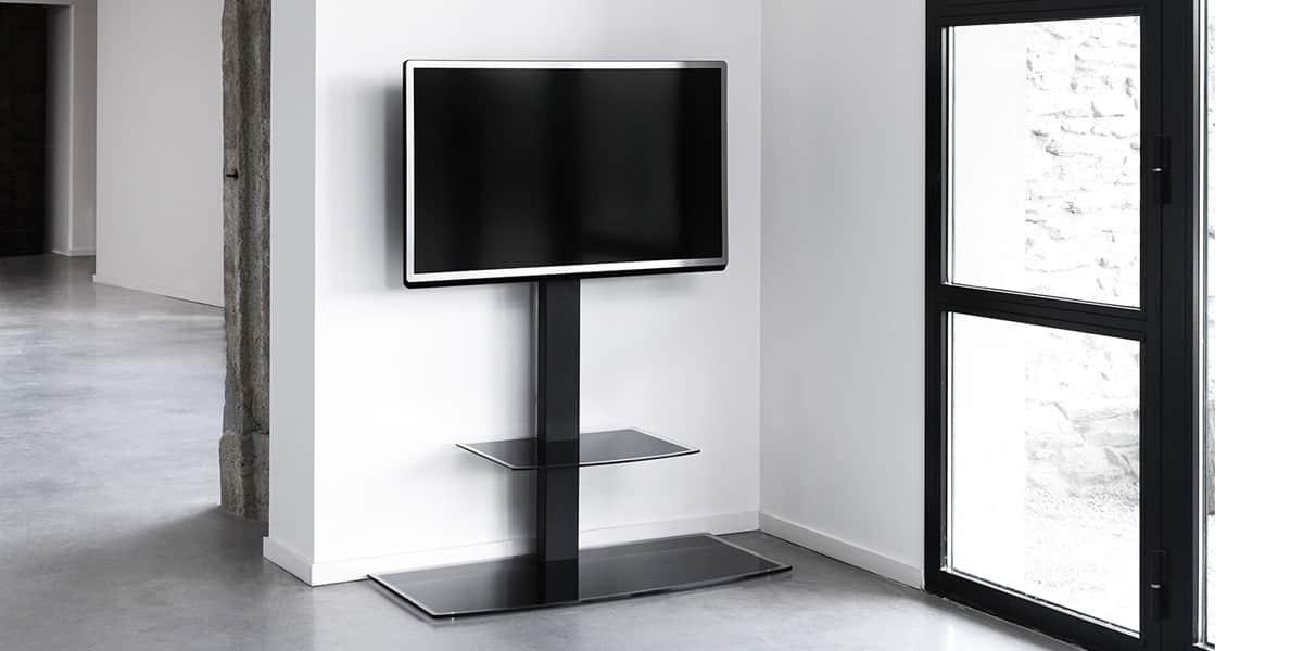 erard studio 1000 supports tv sur pied sur easylounge. Black Bedroom Furniture Sets. Home Design Ideas